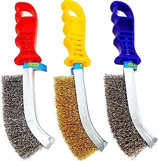 S&R Juego de cepillos metálicos de 3 piezas: 1 Cepillo