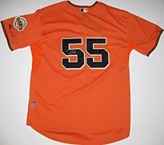 Tim Lincecum, San Francisco Giants, Signed, Autographed, Authentic Jersey, a COA From PSA DNA and the Proof Photo of Tim Signing Will Be Included with the Jersey