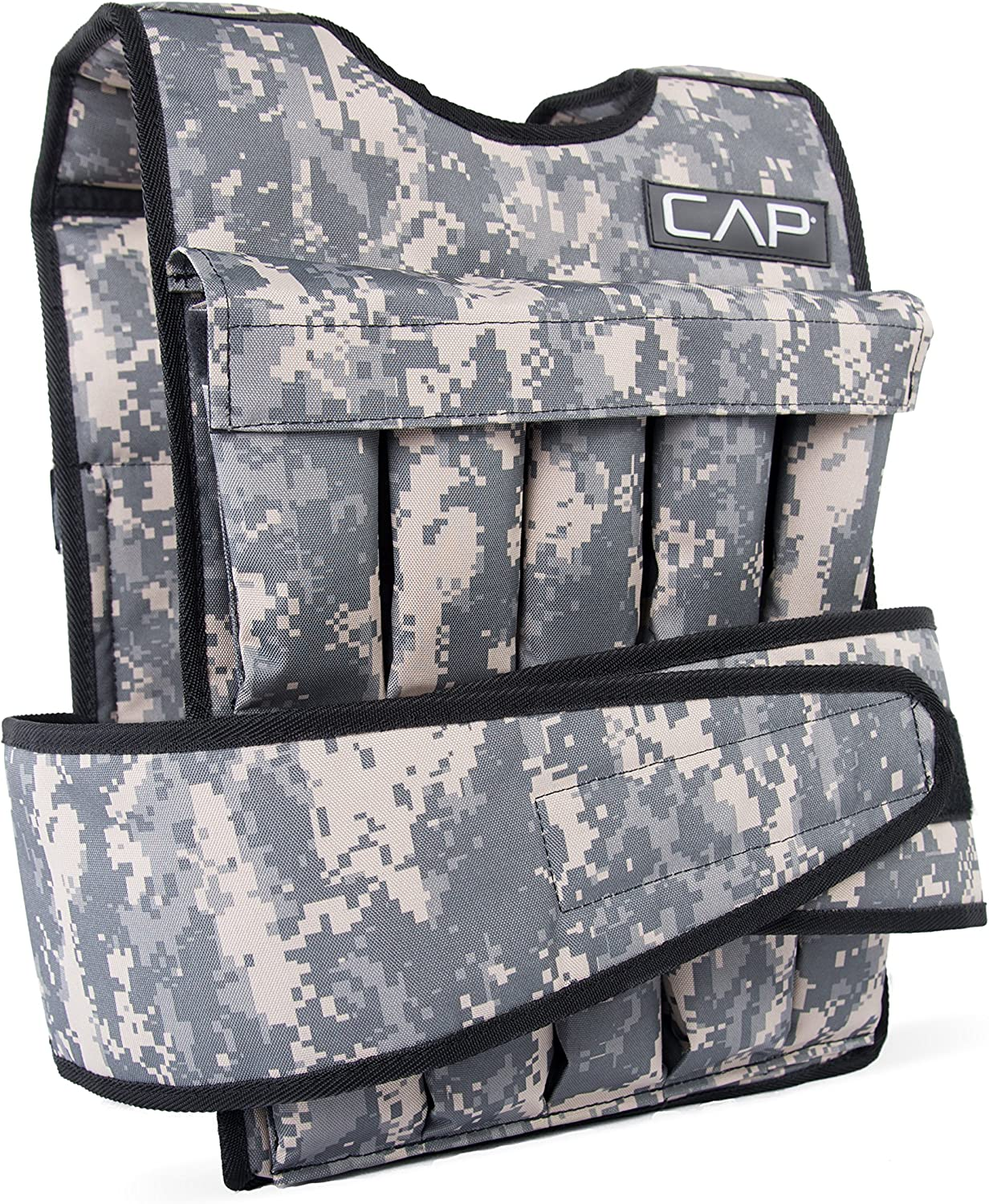 CAP Barbell 18kg Cap Adjustable Weighted Vest, Camouflage