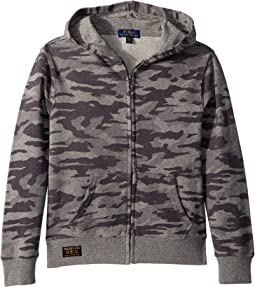 Camo Print Cotton Hoodie (Big Kids)