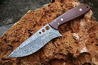 Image of Custom Handmade Damascus Hunting Knife Damascus Skinner Knife Camping Knife Sharp!