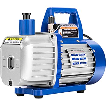 VIVOHOME 110V 1/2 HP 5 CFM Dual Stage Rotary Vane HVAC Air Vacuum Pump with Oil Bottle ETL Listed
