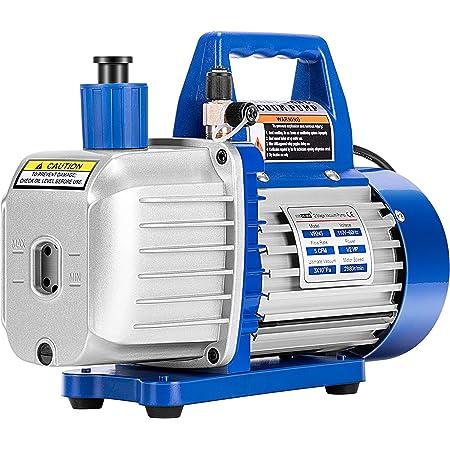 VIVOHOME 110V 1/2 HP 5 CFM Dual Stage Rotary Vane HVAC Air Vacuum Pump with Oil Bottle ETL Listed