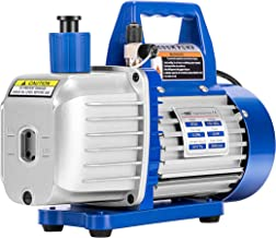 VIVOHOME 110V 1/2 HP 5 CFM Dual Stage Rotary Vane Air Vacuum Pump with Oil Bottle