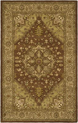 """Safavieh Heritage Collection HG345A Handcrafted Traditional Oriental Rust and Gold Wool Area Rug (7'6"""" x 9'6"""")"""
