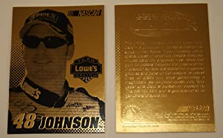 JIMMIE JOHNSON 2003 Laser Line Gold Card LOWES #48 NM-MT Limited Edition NASCAR