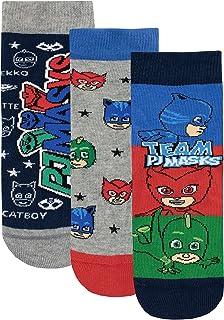 PJ Masks Calcetines Paquete de 3 para Niños Catboy Owlette Gekko