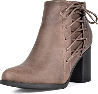 Best brown leather boots womens heel Reviews
