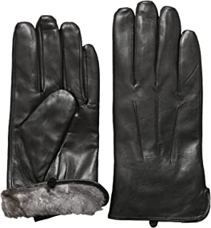 rabbit fur lined leather gloves for men