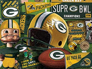 YouTheFan NFL Wooden Retro Series Puzzle, 17.75 x 13.25 Inches, 333 Pieces