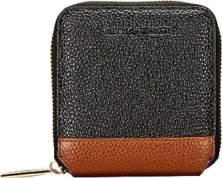 Smith & Canova Women's Small Square Zip Round Purse Wallet