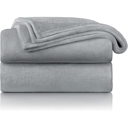 Blumtal - Couverture Polaire 150 x 200 - Plaid Gris - Plaid pour Canapé - Plaid Cocooning - Couverture Polaire Epaisse, Moelleuse, Douce Et Chaude - Haute Qualité