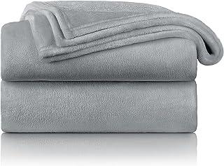 Blumtal - Couverture Polaire 150 x 200 - Plaid Gris - Plaid pour Canapé - Plaid Cocooning - Couverture Polaire Epaisse, Mo...
