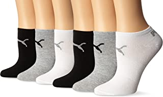Women's 6 Pack Runner Socks, Grey White Black, 9-11