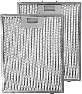 Spares2go de metal Filtro de malla para campana Teka/cocina ventilador de extracción de aire rejilla de ventilación (lote de 2filtros, Plata, 300x 240mm)