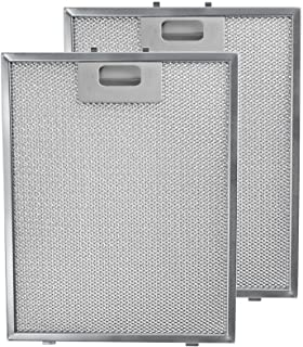 SPARES2GO Metal Mesh Filter for Hygena Schreiber Cooker Hood/Kitchen Extractor Fan Vent (Pack of 2 Filters, Silver, 300 x 240 mm)