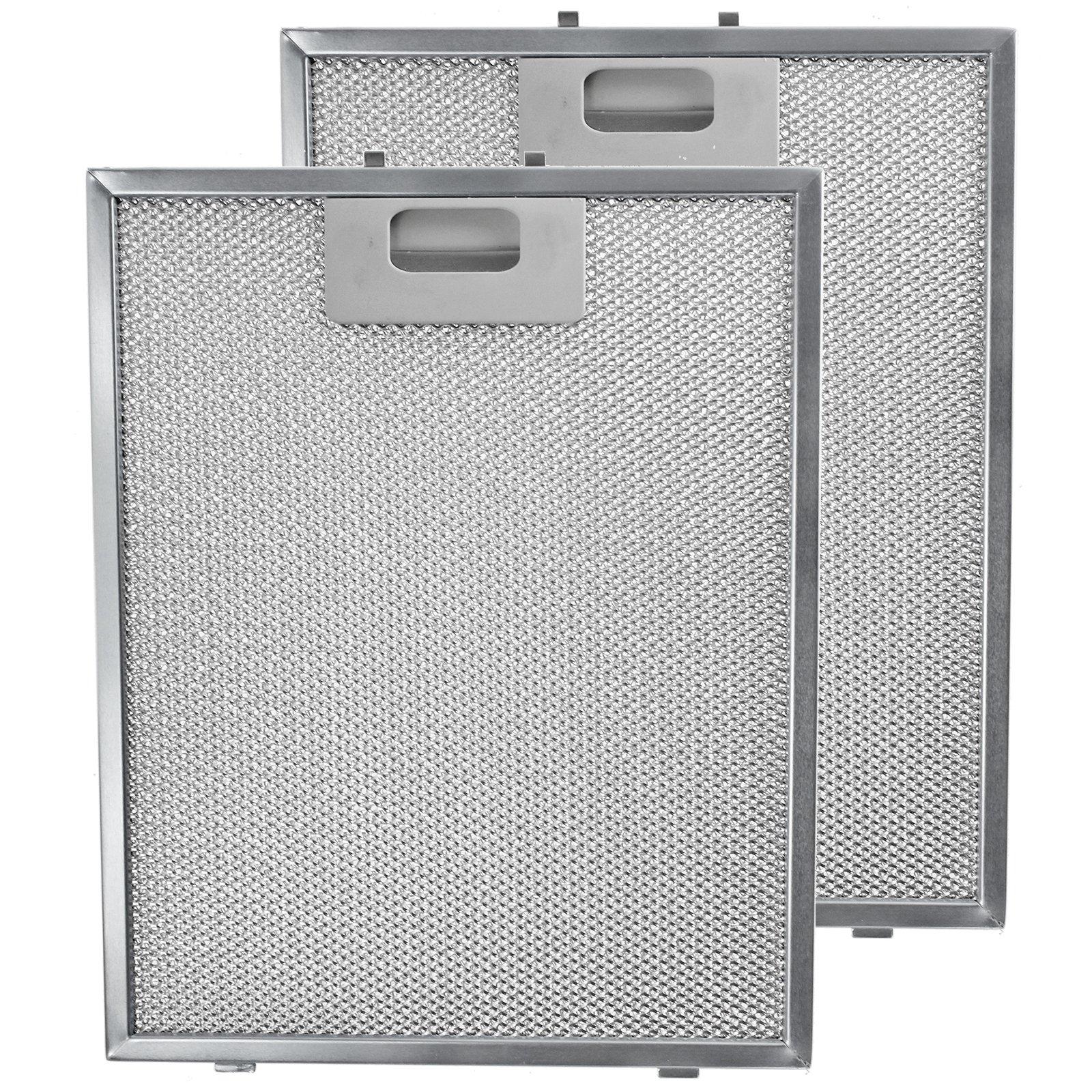 SPARES2GO - Filtro de malla de metal para campanas extractoras Caple, 2 filtros, 300 x 240 mm, color plateado: Amazon.es: Hogar