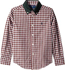 Tartan Cotton Poplin Shirt (Little Kids/Big Kids)
