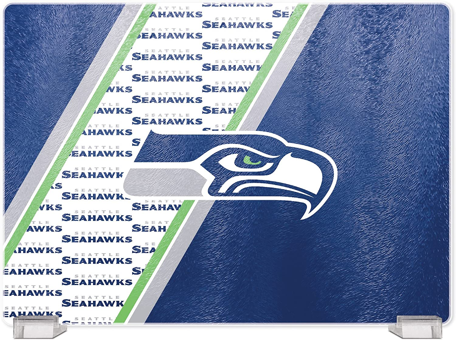 Duck House NFL Seattle Seahawks Tempered Glass Cutting Board wit