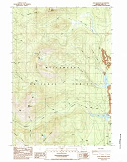 Oregon Maps - 1984 Echo Mountain, OR USGS Historical Topographic Map - Cartography Wall Art - 44in x 55in