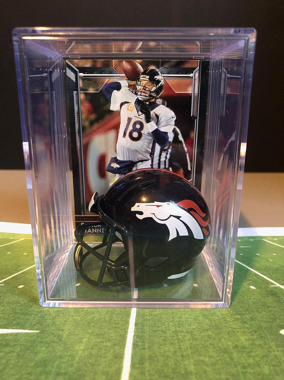 Denver Broncos NFL Helmet Store Shadowbox NEW before selling ☆ card Manning w Peyton