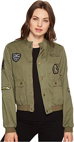 Button up Jacket with Patches