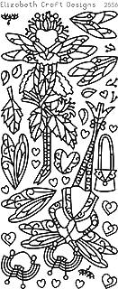 Elizabeth Craft Designs Dragonfly Ladies 2 Peel-Off Stickers, Gold