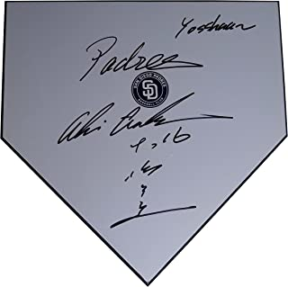 San Diego Padres Akinori Otsuka Autographed Hand Signed Baseball Home Plate Base with Proof Photo of Signing and COA- SD Padres Memorabilia