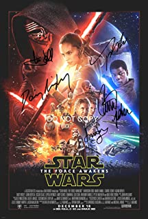 Star Wars The Force Awakens 12x18 reprint cast signed autographed movie poster #2