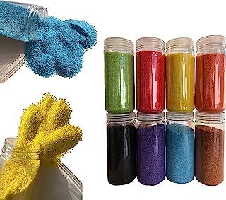 Fairy Tail & Glitzer Fee - Granulado de arena decorativa, 620 g, para rellenar vasos, jarrones o cuencos, colores rosa, rojo, azul, verde y negro, naranja