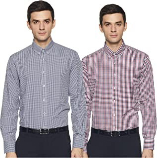 Marks & Spencer Men's Slim fit Formal Shirt (Pack of 2)