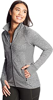 C9 Champion Women's Full Zip Cardio Jacket, Ebony Heather, Large