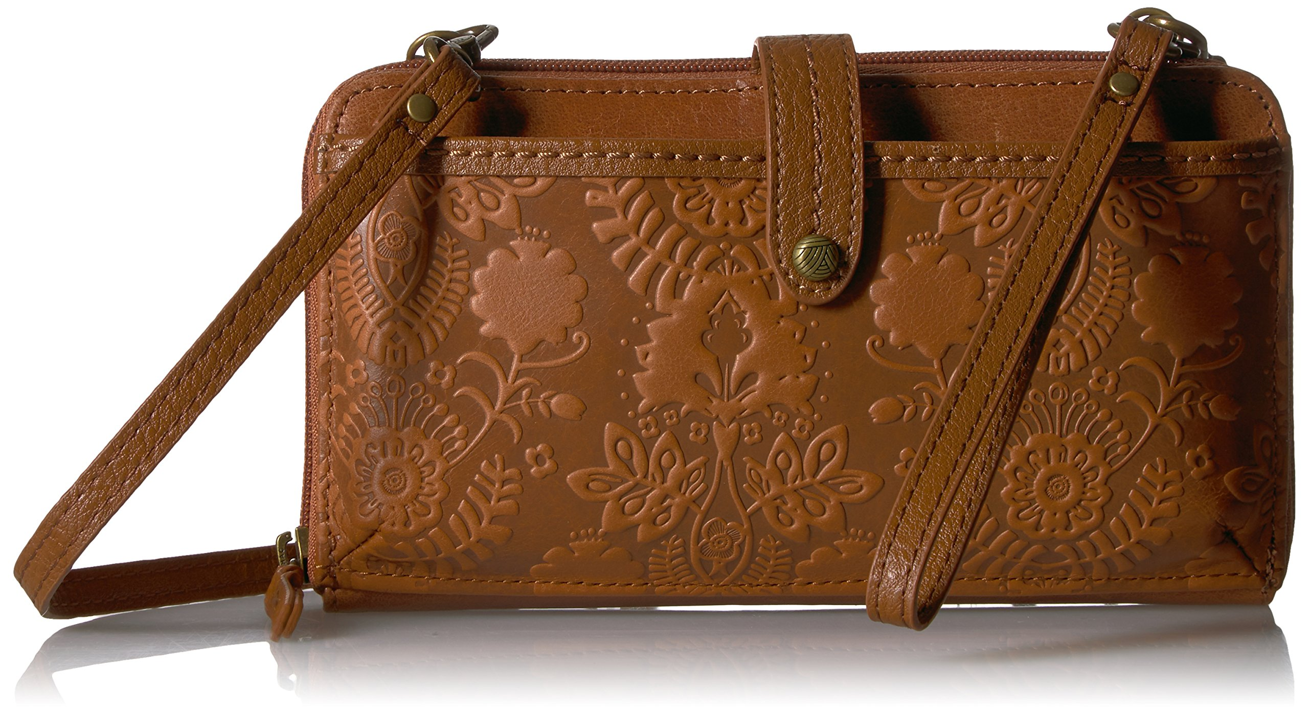 Sak Smartphone Crossbody Tobacco Embossed