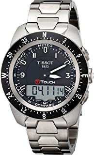 Men's T0134204405700 T-Touch Expert Pilot Black Touch Analog-Digital Dial Watch