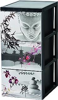 Iris Ohyama, Armoire de rangement design 3 tiroirs - Style Chest - SCF-303,plastique, calme japonais, 45 L, 29 x 39 x 61,5 cm