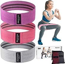Meromore Fitnessbanden, set van 3, fitnessbanden/weerstandsbanden, set loopband voor 3 weerstandsniveaus voor billen en be...