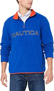 Nautica Men's 1/4 Zip Logo NAUTEX Bright