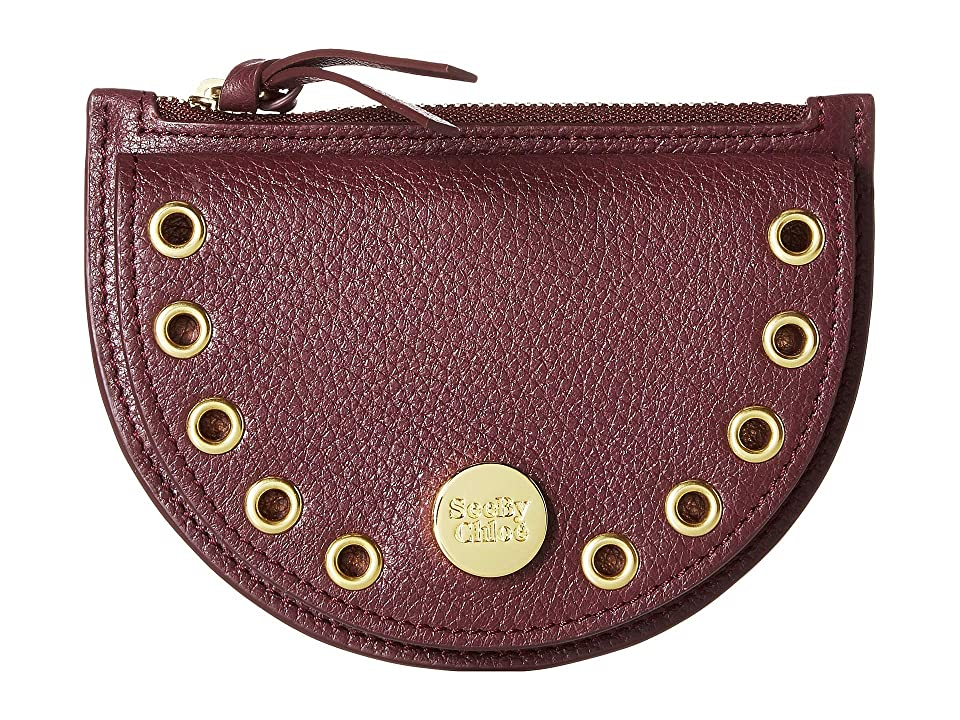 See by Chloe Kriss Mini Coin Purse (Obscure Purple) Wallet Handbags