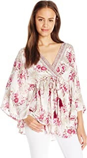Angie Women's Wide Sleeve Printed Top