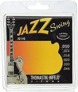 Thomastik-Infeld Jazz Guitar Swing Series 6 String Pure Nickel Flat Wounds E, B, G, D, A, E Set (JS110)