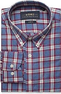 maroon checkered dress shirt
