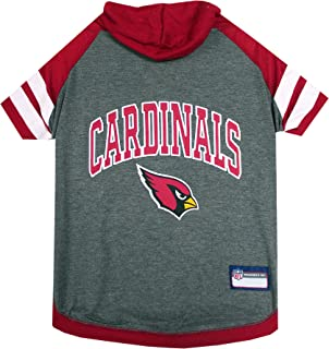 Pets First Hoodie T-Shirt for Dogs & Cats. NFL Arizona Cardinals Football Licensed Dog Hoody Tee Shirt, X-Small Sports Hoo...