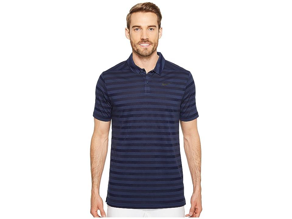 Nike Golf Breathe Stripe Polo OLC (College Navy/White) Men
