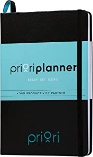 Priori Agenda Planner - Undated - 6 Month Personal Journal - Increase Productivity, Time Management and Happiness - Daily,...