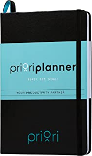 Priori Agenda Planner - Undated - 6 Month Personal Journal - Increase Productivity, Time Management and Happiness - Daily, Weekly and Monthly Organizer and Calendar - 2019 2020