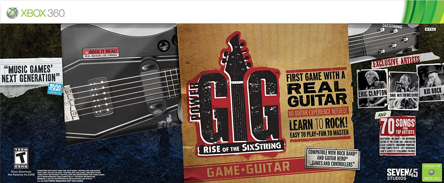 Sale Special Price Power Gig: Rise of supreme the 360 -Xbox Guitar Bundle SixString