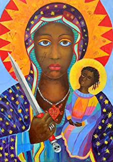 Erzulie Dantor picture Black Madonna image Voodoo Art POSTER PRINT A3 Catholic art Religious oil paintings non-canvas print