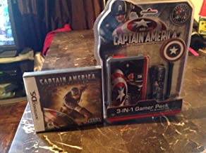 CAPTANIN AMERICA THE FIRST AVENGER 4in 1 3DS GAME CASE & MOLDED STYLUS NINTENDO 3SD STRAP & CAPTAIN AMERICA SUPER SOLDIER THE GAME FOR NINTENDO DS/3DS