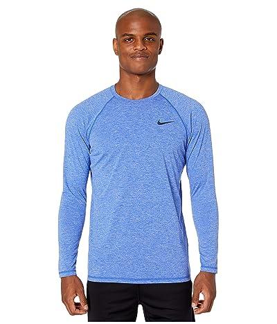 Nike Heather Long Sleeve Hydroguard (Hyper Royal) Men