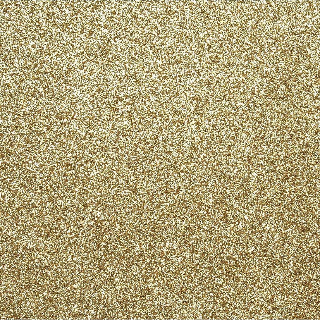 Bulk Buy: Darice DIY Crafts Sticky Back Glitter Sheet Gold 8.5 x 11 inches (10-Pack) 2511-57